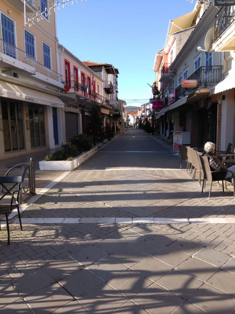LEFKADA CITTA' CORSO PRINCIPALE, locali tipici, movida a Lefkada