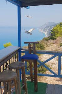 spiaggia di laguna bay sulla costa occidentale di Lefkada