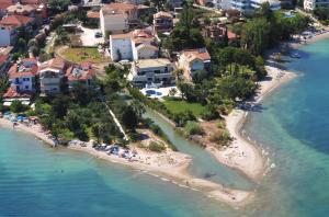 spiagge costa ordientale dell'isola di lefkada, nikiana, lefkada