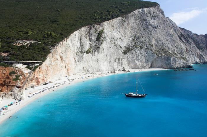 spiaggia di Porto Katziki a Lefkada